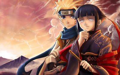 Hinata Hyuga and Naruto Uzumaki wallpaper
