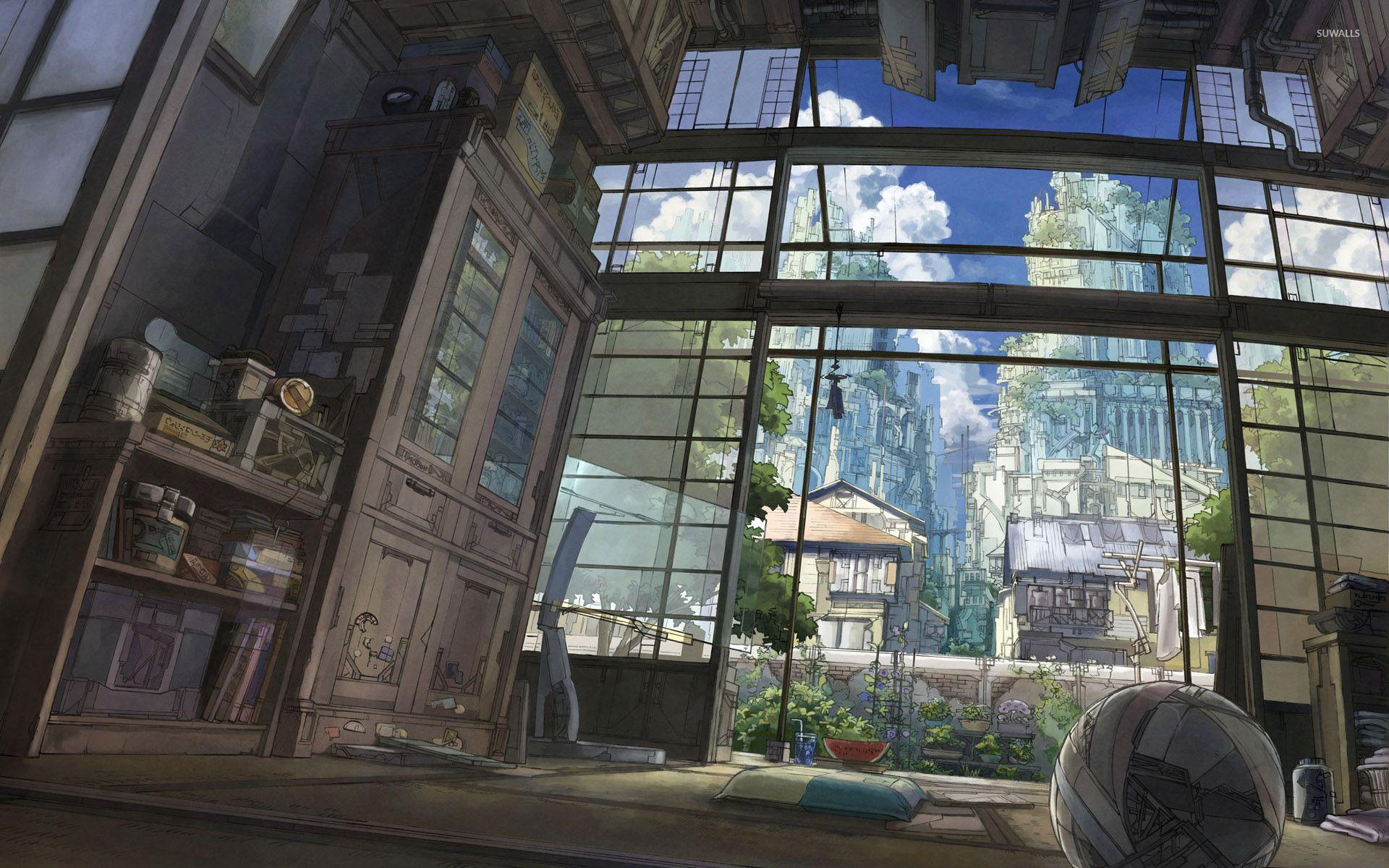 Japanese Style Anime Room Wallpaper