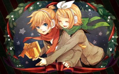 Kagamine Rin and Kagamine Len - Vocaloid wallpaper