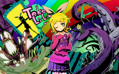 Kagamine Rin from Vocaloid wallpaper
