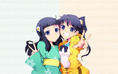 Karen Araragi and Tsukihi Araragi - Bakemonogatari wallpaper