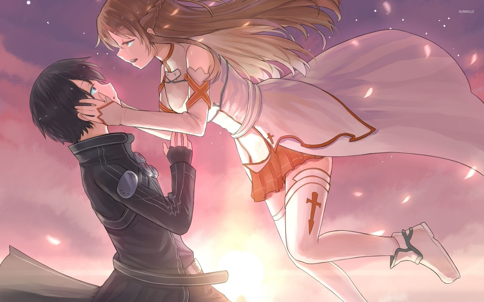 Foto Kirito Dan Asuna kirito and asuna - sword art online wallpaper - anime