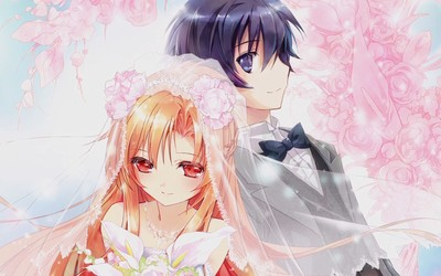 Kirito and Asuna - Sword Art Online [2] wallpaper