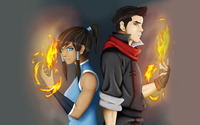 Korra and Mako wallpaper 2560x1600 jpg