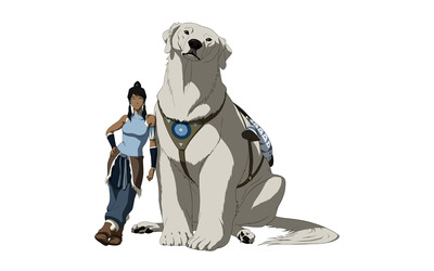 Korra and Naga wallpaper