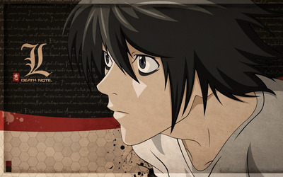 L - Death Note [4] wallpaper