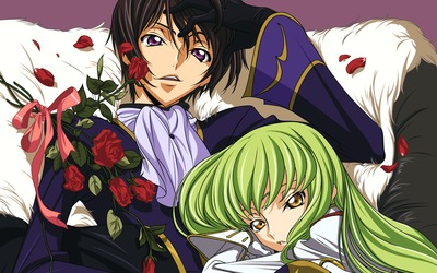 Lamperouge Lelouch and C.C. in Code Geass wallpaper