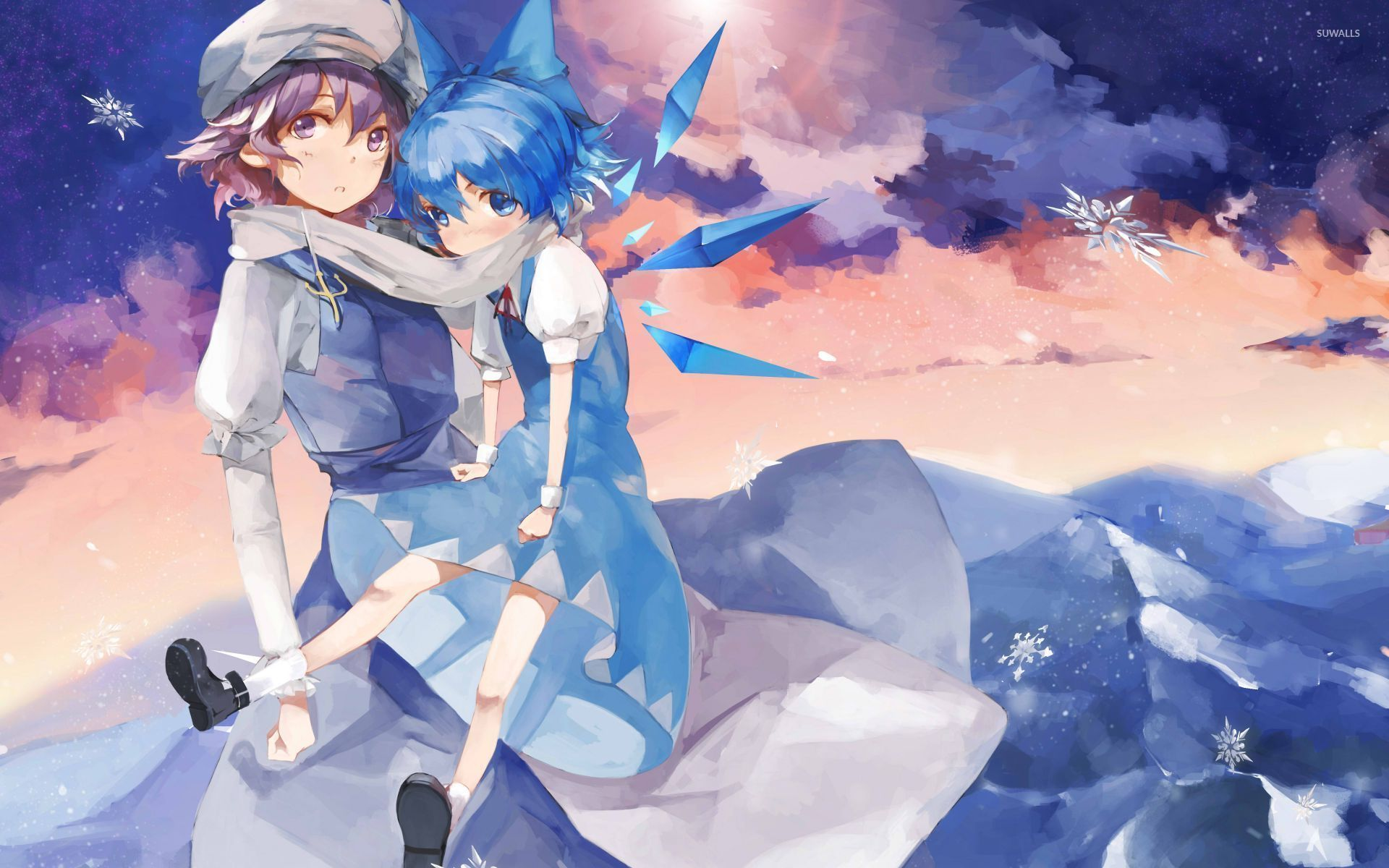 letty whiterock and cirno touhou project wallpaper