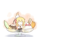 Little blonde girl eating ice cream wallpaper 1920x1200 jpg