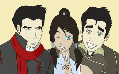 Mako, Korra and Bolin wallpaper