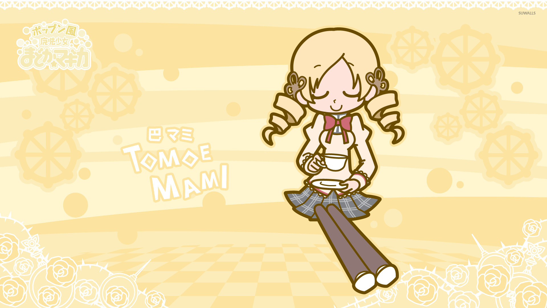 Mami Tomoe Having Tea Puella Magi Madoka Magica Wallpaper Anime Wallpapers 54474