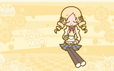 Mami Tomoe having tea - Puella Magi Madoka Magica wallpaper