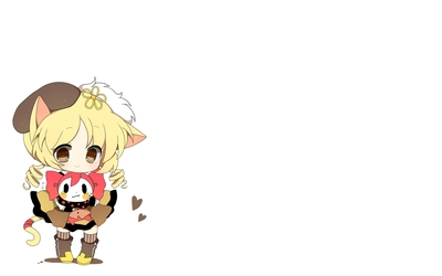 Mami Tomoe with animal ears - Puella Magi Madoka Magica wallpaper