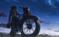 Man on a bike watching the sunset wallpaper 1920x1200 jpg