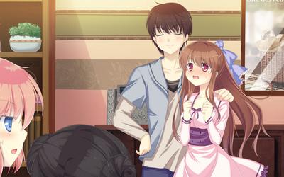 Mari and Tsugumi in Mizu no Miyako no Patisserie wallpaper