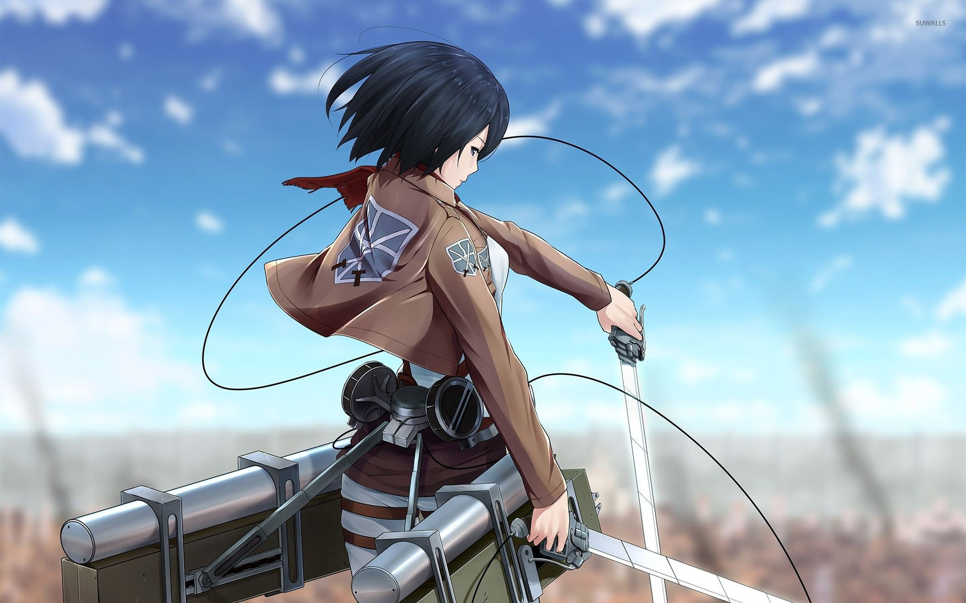 Mikasa Ackerman Attack On Titan 2 Wallpaper Anime Wallpapers