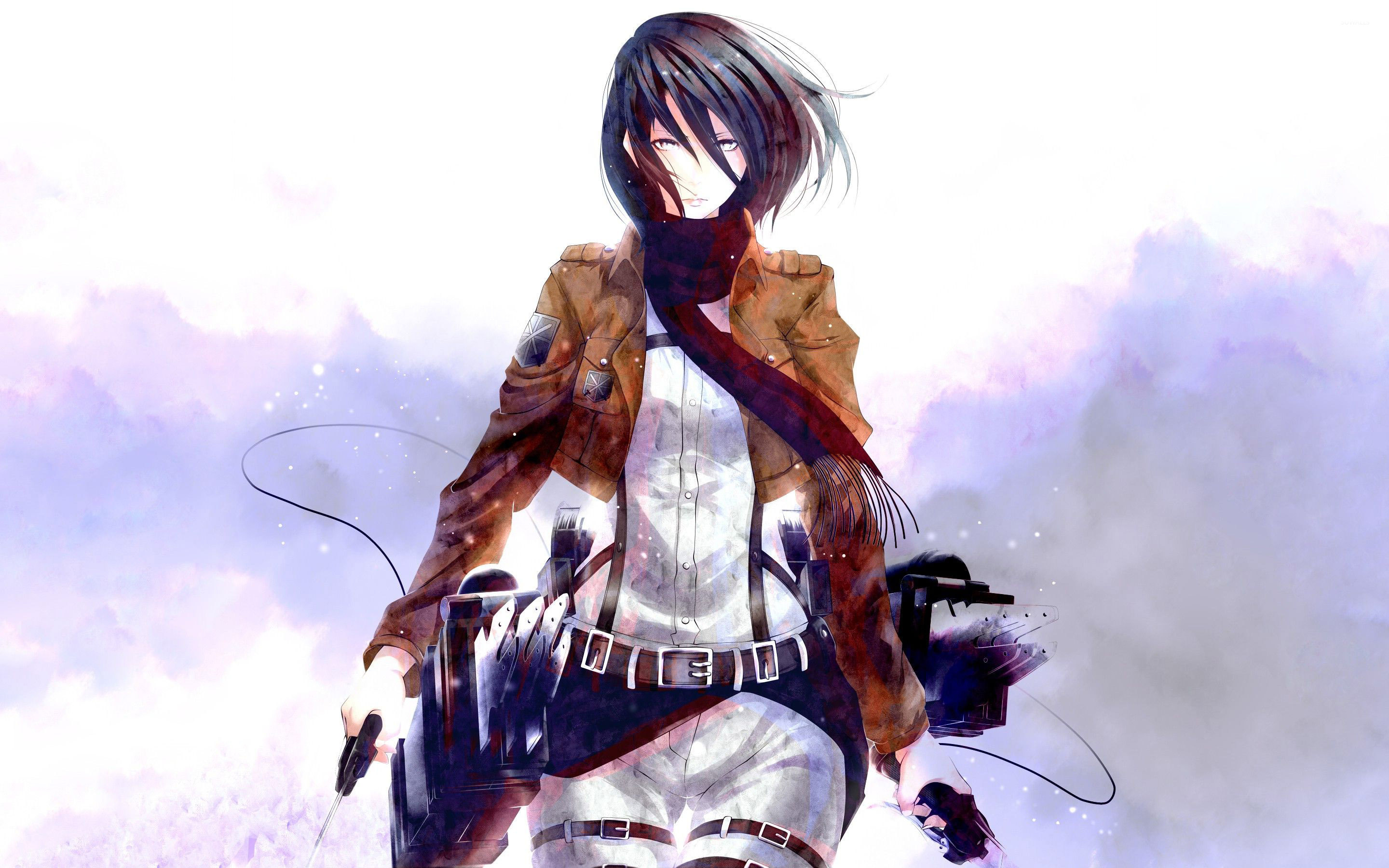 Mikasa Ackerman On Titan  Wallpaper