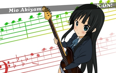 Mio Ahiyama - K-On! wallpaper