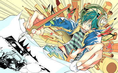 Moritaka Mashiro from Bakuman wallpaper