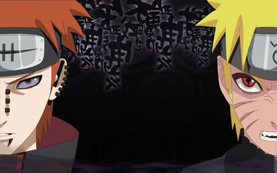 Naruto Uzumaki and Pain wallpaper