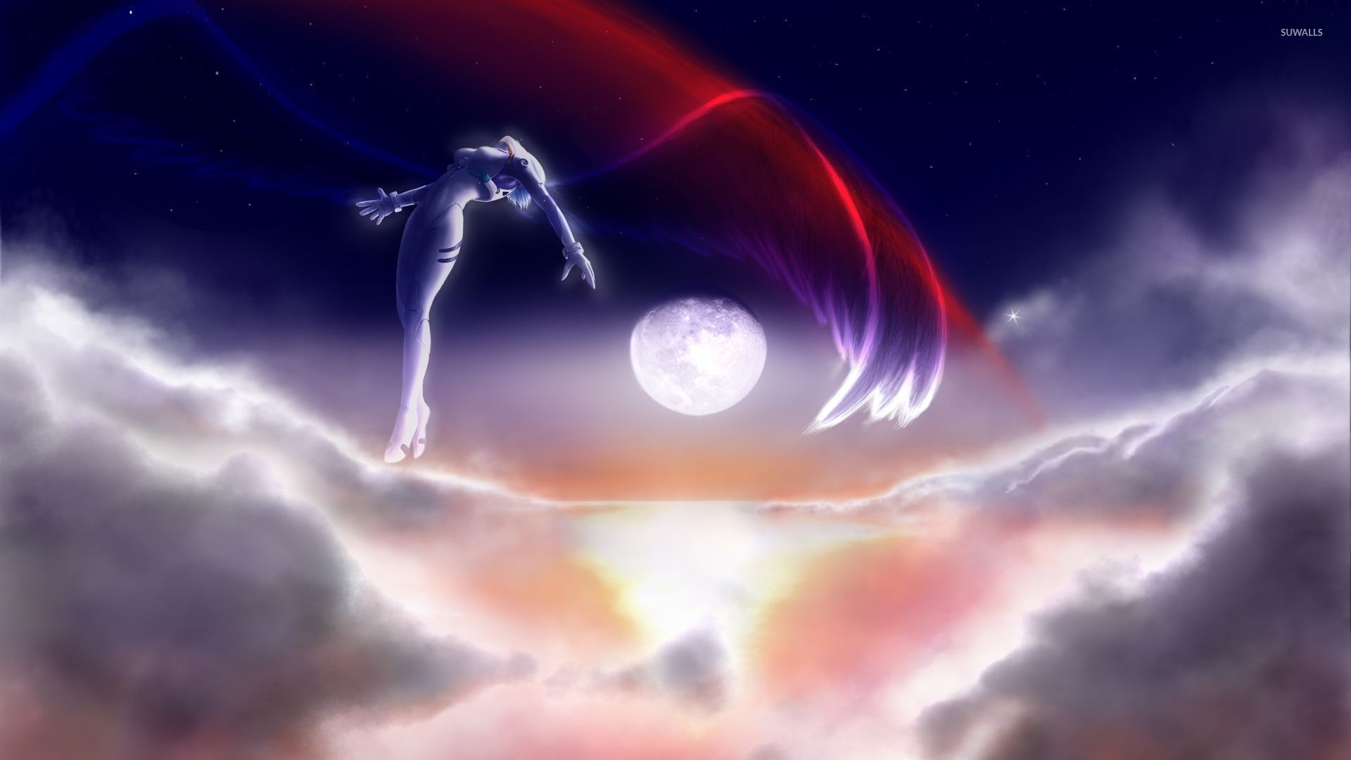 Neon Genesis Evangelion Angel In The Sky Wallpaper