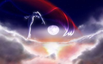 Neon Genesis Evangelion angel in the sky wallpaper