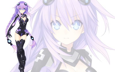 Neptune with glowing eyes - Hyperdimension Neptunia wallpaper