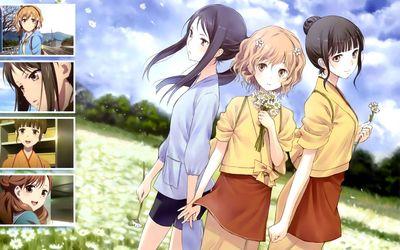 Ohana, Nako and Yuina - Hanasaku Iroha wallpaper