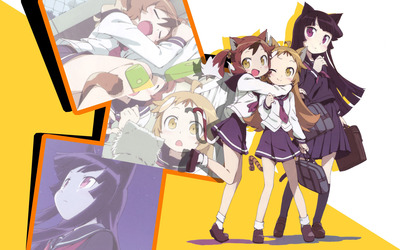 Oreimo schoolgirls wallpaper