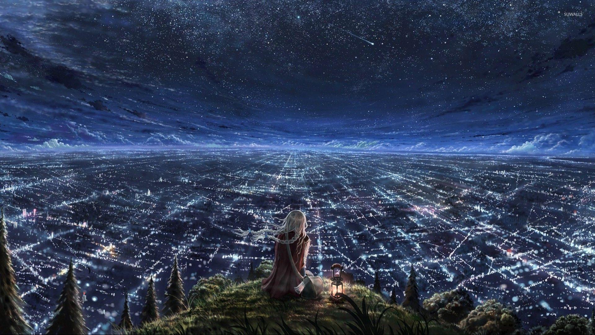 Overlooking The City Lights Wallpaper 1920x1080 Jpg