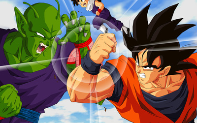 Piccolo vs Goku - Dragon Ball Z wallpaper