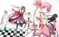 Puella Magi Madoka Magica characters wallpaper 1920x1200 jpg