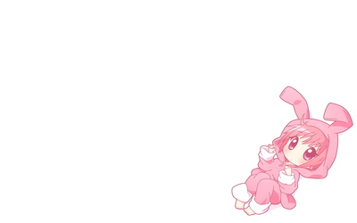 Redhead in a rabbit costume wallpaper
