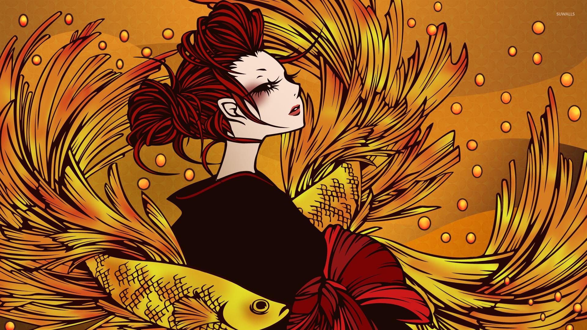 Redhead mermaid wallpaper - Anime wallpapers - #47595
