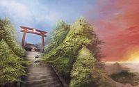 Reimu Hakurei and Marisa Kirisame - Touhou Project wallpaper 2560x1600 jpg