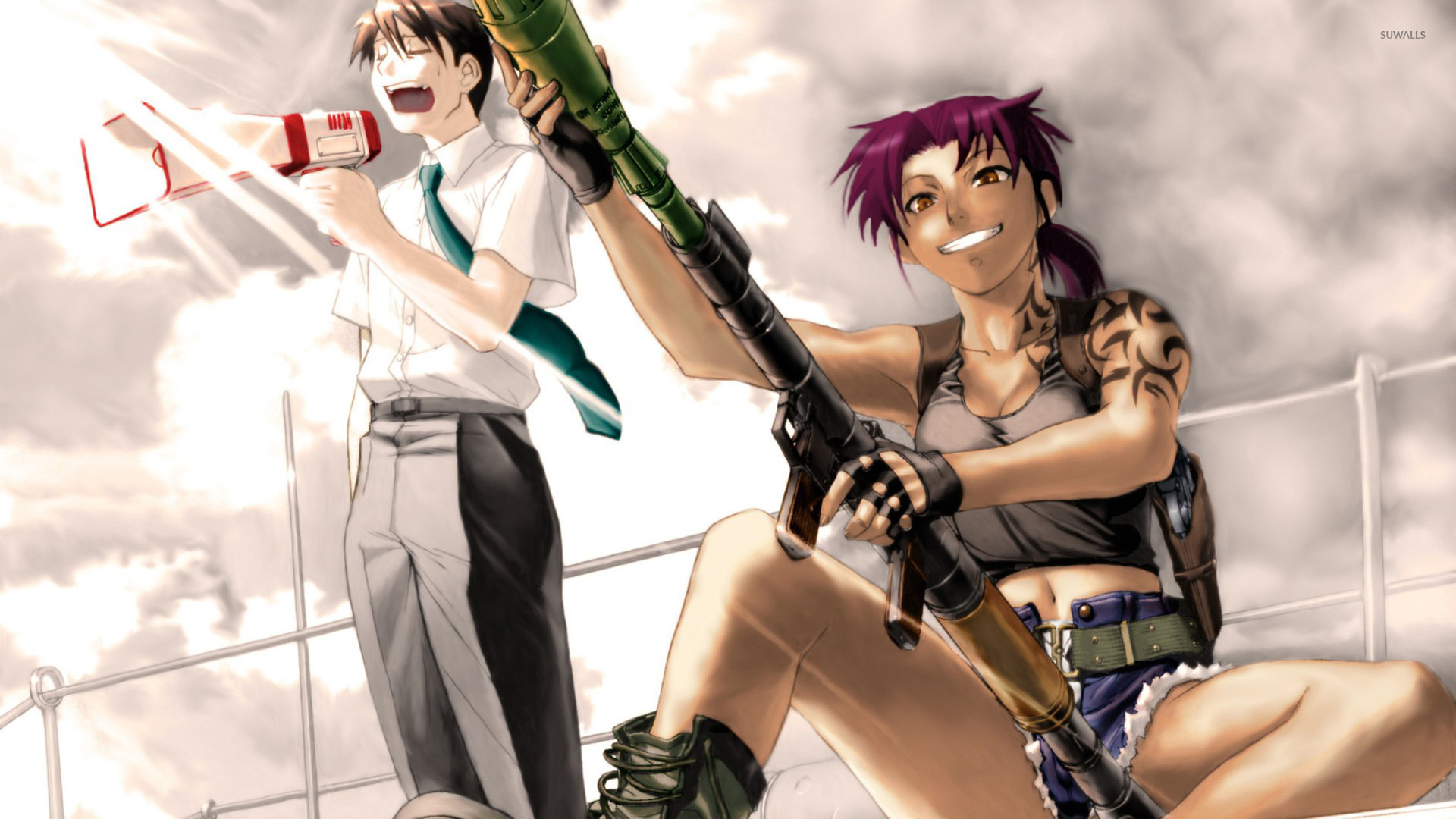 Revy And Rock Black Lagoon Wallpaper Anime Wallpapers