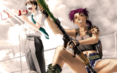 Revy and Rock - Black Lagoon wallpaper