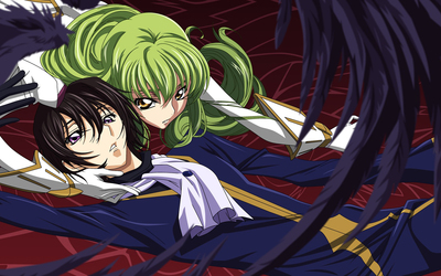 Rolo Lamperouge and C.C. in Code Geass wallpaper