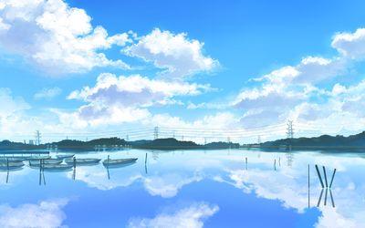 Rowboats on the lake Wallpaper