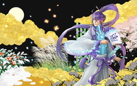 Samurai with purple hair wallpaper 1920x1200 jpg
