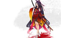 Sen Tokugawa - Hyakka Ryoran: Samurai Girls wallpaper 2560x1600 jpg
