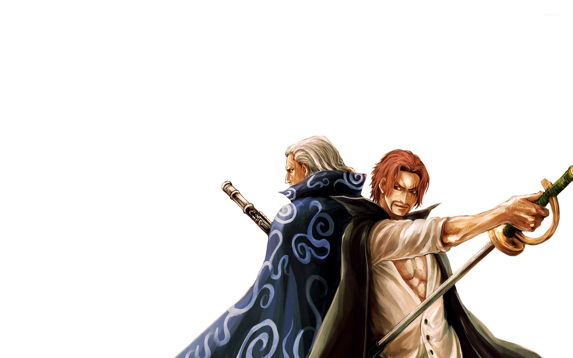 Shanks Le Roux And Ben Beckman Wallpaper Anime One Piece