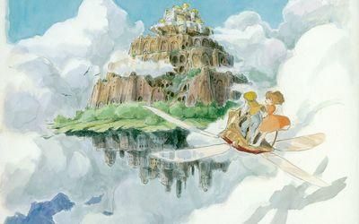 Sheeta and Pazu in Castle in the Sky wallpaper