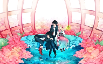 Shiemi, Rin and Yukio from Blue Exorcist wallpaper