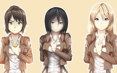 Shingeki no Kyojin female characters wallpaper