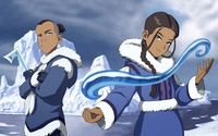 Sokka and Katara wallpaper 1920x1200 jpg