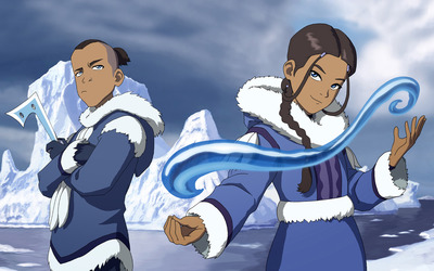 Sokka and Katara wallpaper