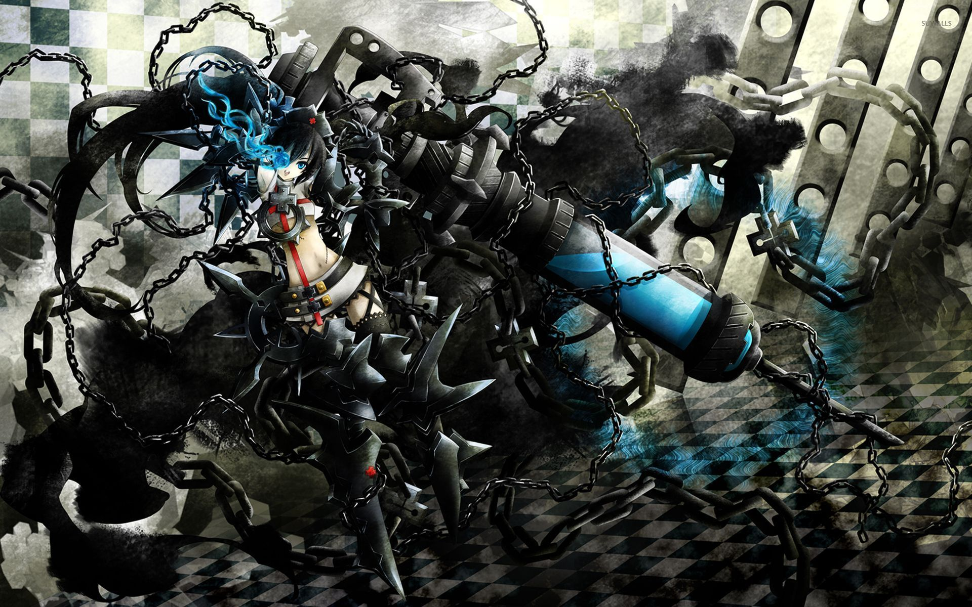 stella in chains - black rock shooter wallpaper - anime wallpapers