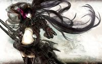 Stella in the smoke - Black Rock Shooter wallpaper 1920x1200 jpg