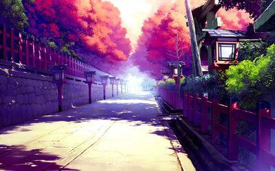 Street in Akizora ni Mau Confetti wallpaper